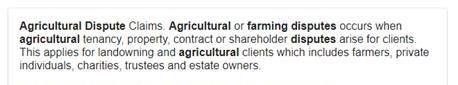 agricultural disputes (2)